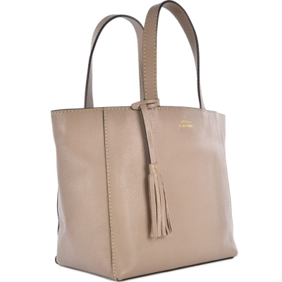 Small natural leather PARISIAN tote bag
