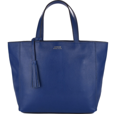 Medium indigo leather PARISIAN tote bag