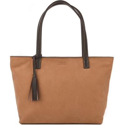 Nubuck leather EDEN top-zip shoulder bag