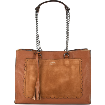 CANCAN Leather shoulder bag with metal chains