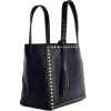 Small studded leather PARISIAN tote bag