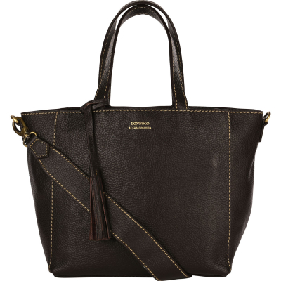 Small black leather PARISIAN crossbody tote bag