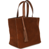 Small suede leather PARISIAN tote bag
