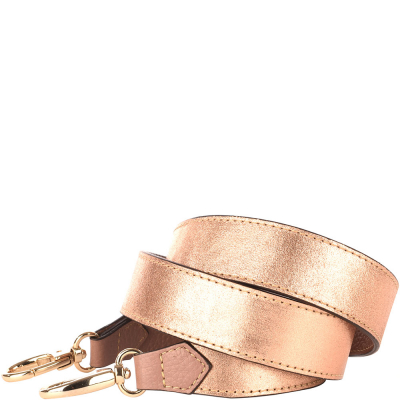 Iridescent leather shoulder strap