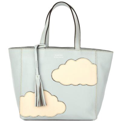 Small leather PARISIAN tote bag CLOUD