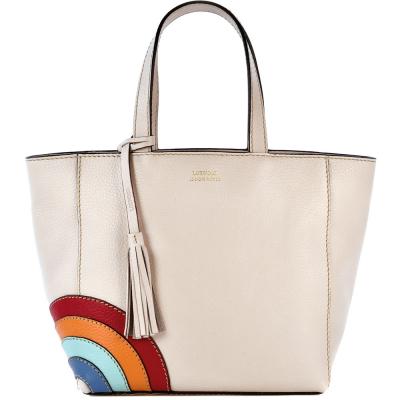 Small leather PARISIAN tote bag rainbow