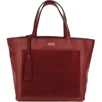 Medium leather PARISIAN tote bag with suede pocket