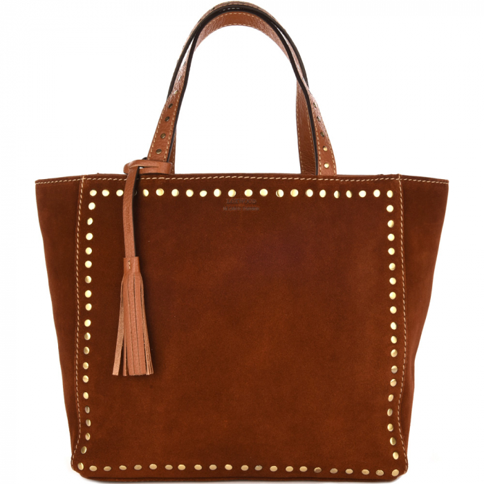 Medium suede leather PARISIAN tote bag