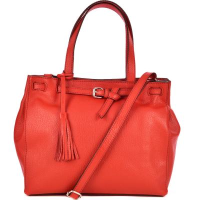 Medium leather NANOU handbag
