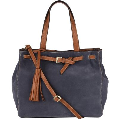 Medium suede leather NANOU handbag
