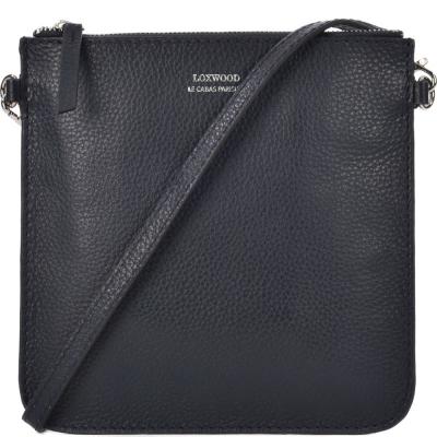 Leather FLOPPY flat clutch