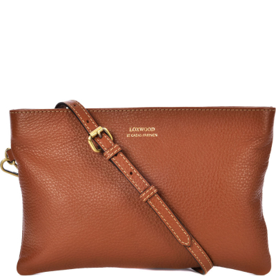 Leather DAKOTA crossbody clutch