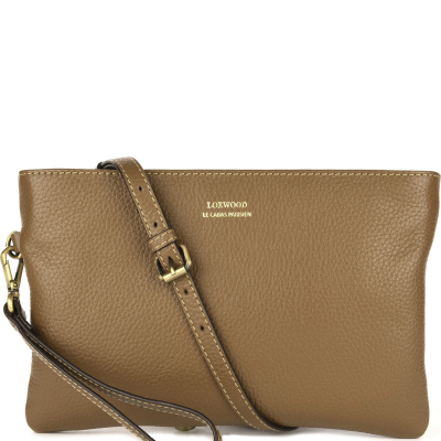 Leather DAKOTA crossbody clutch