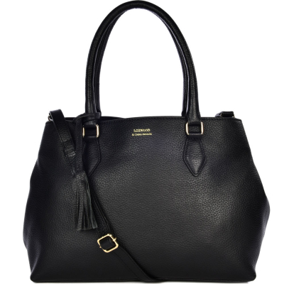 Large leather PAMINA shoulderbag