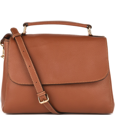 Leather cross-body bag SUZANNE
