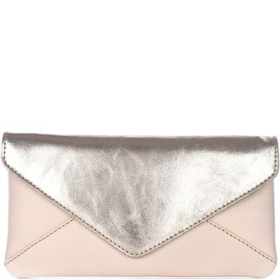 LANA - Leather flat clutch