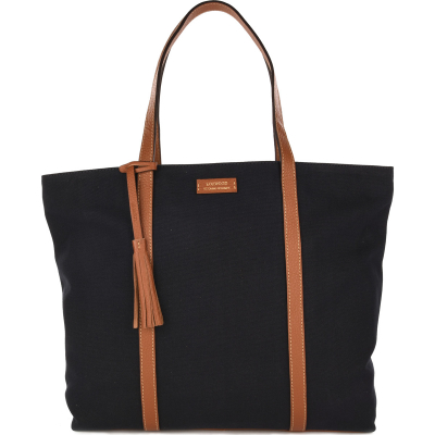 Large canvas & leather FOURRE TOUT holdall