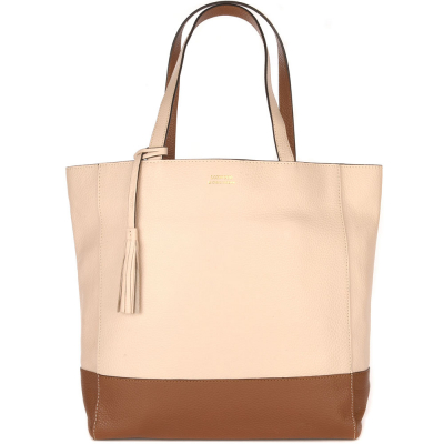 Two-tone leather bag PANAME