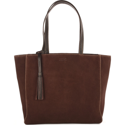 MONTMARTRE - Suede leather tote bag