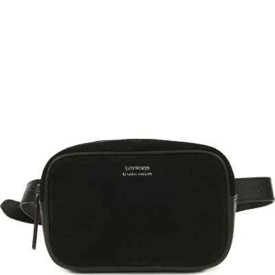 Suede leather fanny pack
