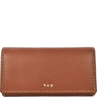 WALLET WITH A FLAP - Grained leather