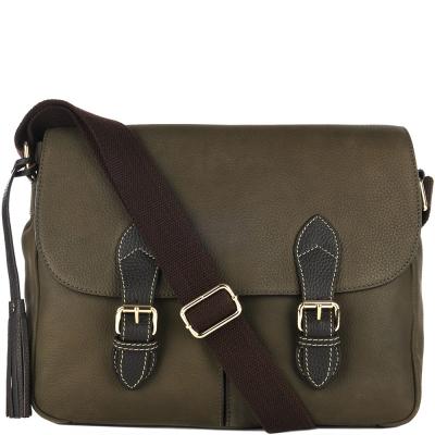 Nubuck leather MESSENGER bag