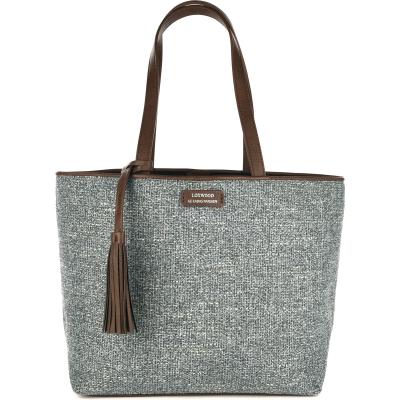 Medium tweed tote bag