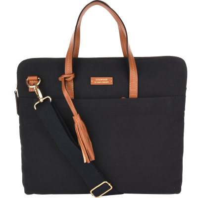 Canvas cross-body satchel