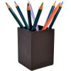Pot à crayon cuir grainé