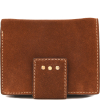 Small suede leather back-to-back wallet