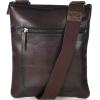 Large leather zipped pocket