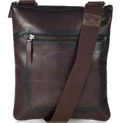 Grand pochette zippée en cuir lisse