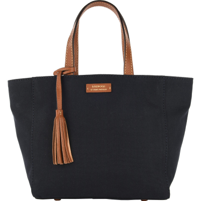 Small natural canvas and leather PARISIAN tote bag