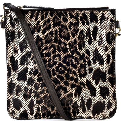 Printed leather FLOPPY flat clutch