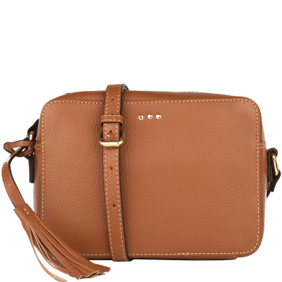 Leather cross-body CAMERA BAG