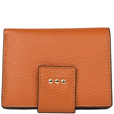 Small leather back-to-back wallet