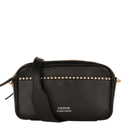 Scalloped studded VILLIERS BAG - Glossy Nappa