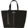 Small suede leather PARISIAN tote bag with edging