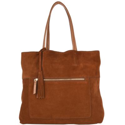 CHARLIE - Tote bag Velvet leather