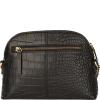 Croc print HALF MOON leather bag
