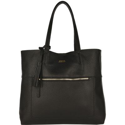 CHARLIE - Tote Bag Coarse grain leather