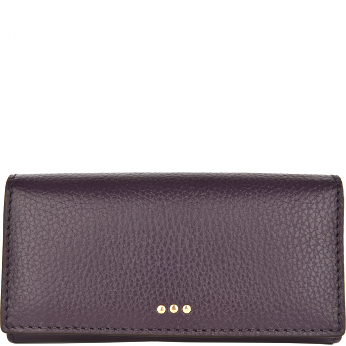 Leather wallet with a flap