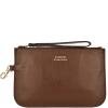 Zip-up leather MOUSQUETON clutch