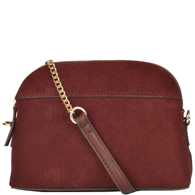 HALF MOON bag velvet leather