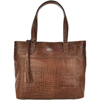 ABESSES - Zipped leather shoulder bag