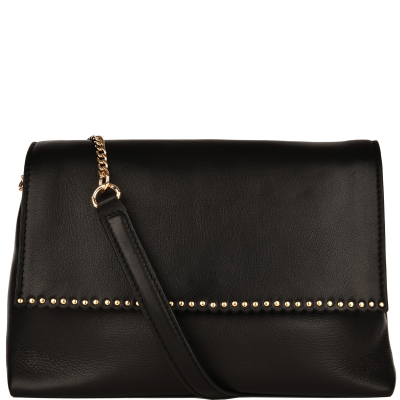 Scalloped studded MARCEAU BAG - Glossy Nappa