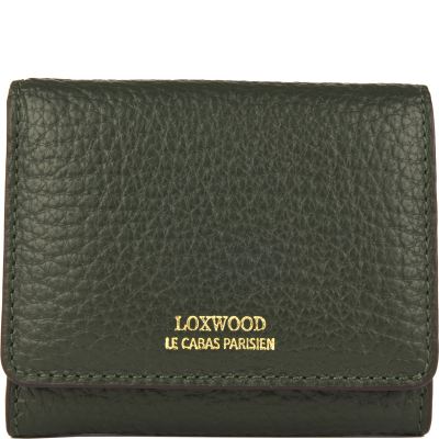 Small wallet in coarse leather