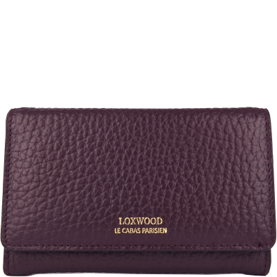 Wallet in coarse leather