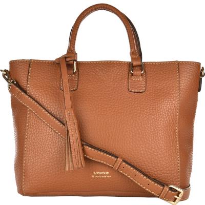 TUILERIES - Coarse grain leather crossbody bag