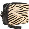 CAMERA BAG - Zebra-print leather